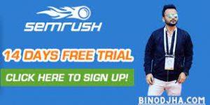 SEMrush Free Trial