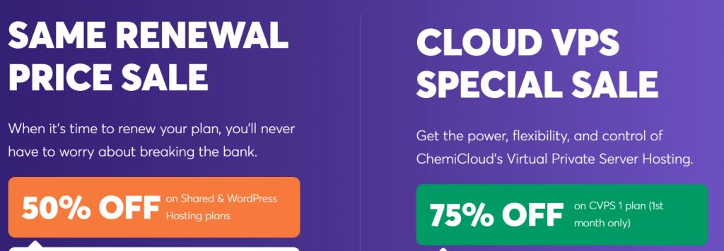 ChemiCloud Sale, ChemiCloud Coupon code